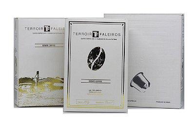 """Kit """"BlackBird"""" - Terroir Faleiros  - Café Especial + Cápsula 10 unidades*"""