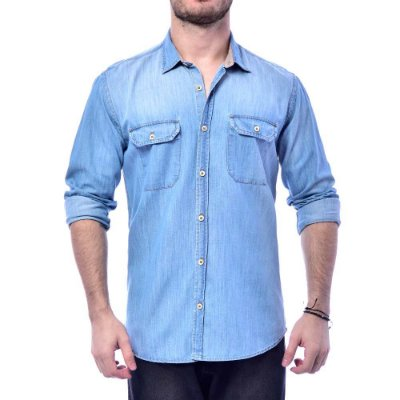Camisa Sergio K Jeans Contraste