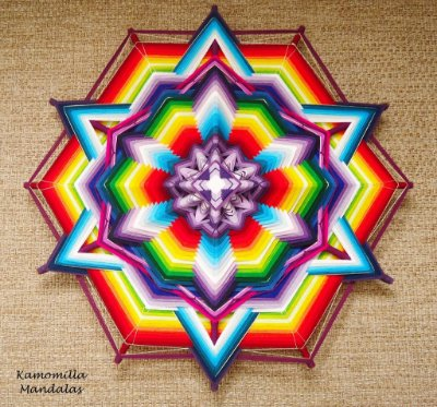 Mandala 80 cm , Estrela de Davi, Energia dos Chakras