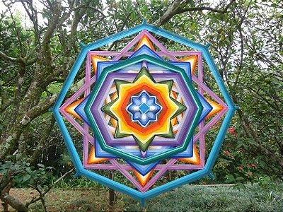 Mandala de 8 pontas (80cm)