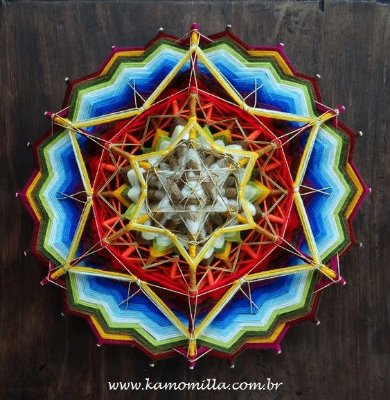 Mandala especial com 24 pontas em 4D. Peça exclusiva!