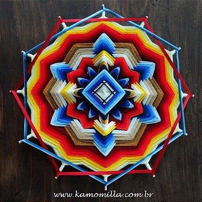 Mandala 12 pontas equilíbrio das polaridades