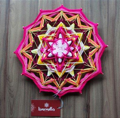 Mandala 12 pontas amor e harmonia familiar