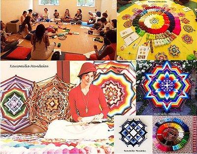 Workshop presencial de mandalas níveis 1 e 2 ou 2 dias de atividades