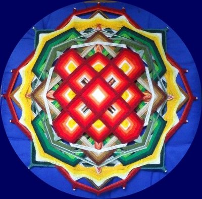 Mandala com Painel Tibetano 40 cm