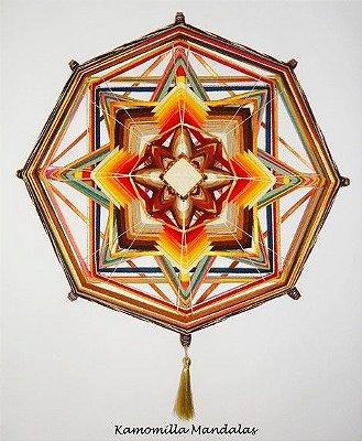 Mandala de 50 cm e 8 pontas