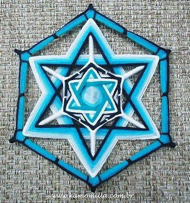 Mandala Estrela de Davi 6 pontas