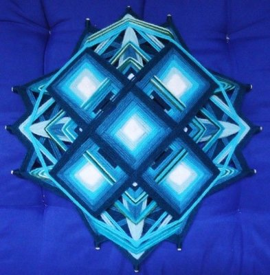 Painel Tibetano 3x3 azul