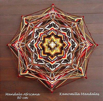 Mandala Africana - Peça exclusiva com 80 cm