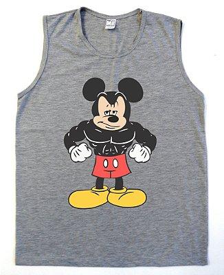 Regata Machão Mickey Mouse cor Cinza