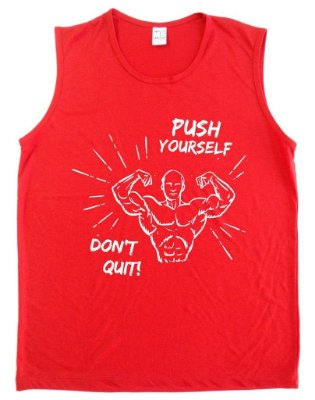 Regata Machão Push Yourself Don't Quit