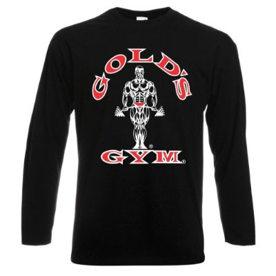 Camiseta Manga Longa Golds Gym Colorido