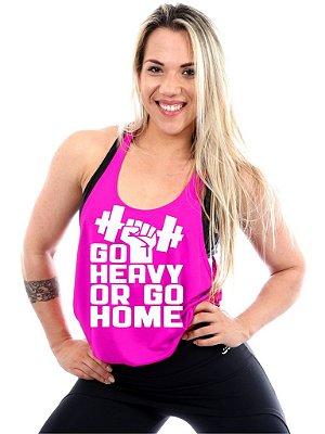 Regata Cavada Feminina Go Heavy Or Go Home