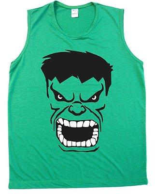 Regata Machão Hulk os Vingadores Cor Verde