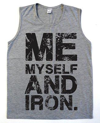 Regata Machão Me my Self And Iron Cor Cinza