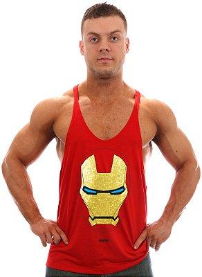 Regata Super Cavada Homem de Ferro Mascara Dourada