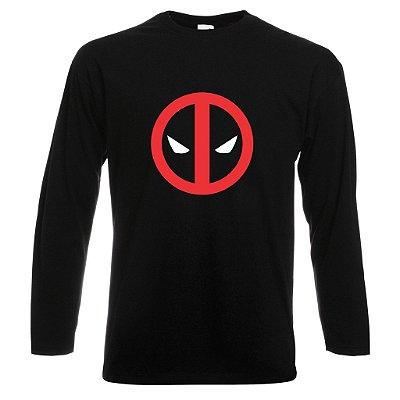 Camiseta Manga Longa Deadpool 1 cor Preta