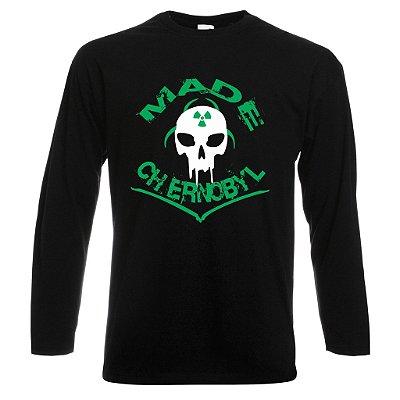 Camiseta Manga Longa Made Chernobyl cor Preta