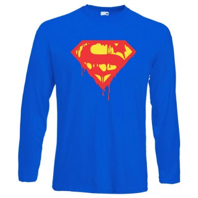 Camiseta Manga Longa Super Man S Death Azul