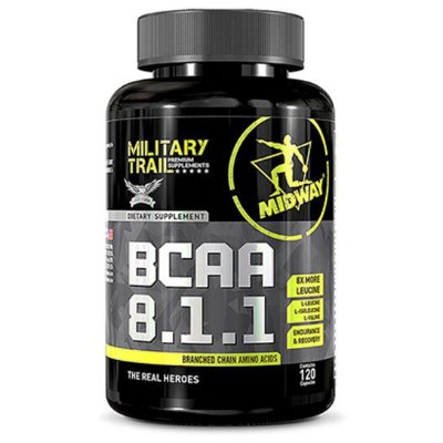 BCAA 8:1:1 - 120CAPS - Military Trail