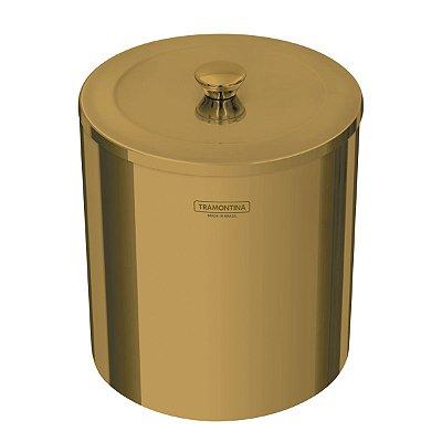 LIXEIRA COM ACABAMENTO POLIDO 5L - ÚTIL GOLD - 94540/051