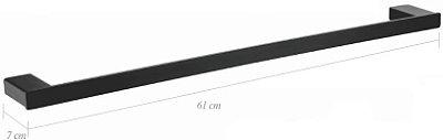 PORTA TOALHA BARRA 60CM - BLACK MATTE - LX7124B