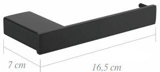PAPELEIRA - BLACK MATTE - LX7160B