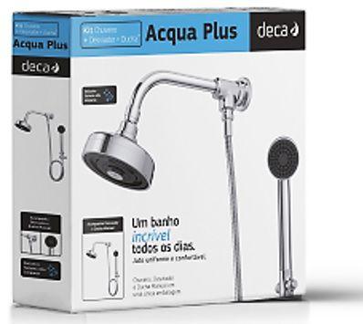 Chuveiro Acqua Plus - Kit de chuveiro com desviador e ducha manual- 1990.C.STD.KIT