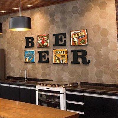 Conjunto Quadros e Letras - Beer