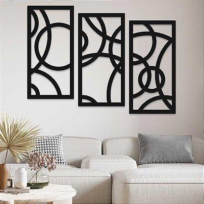 Trio de Painéis Decorativos - Contemporâneo - P71