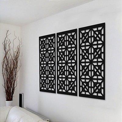 Trio de Painéis Decorativos - Geométrico - P04