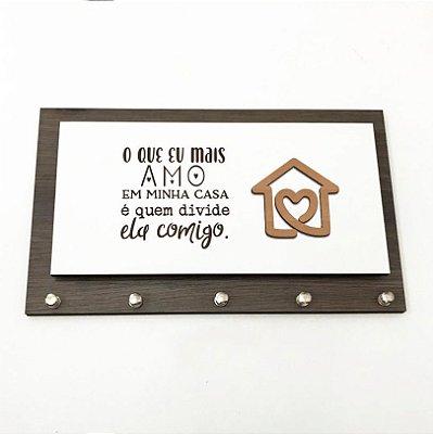Porta Chaves e Cartas - O que mais amo