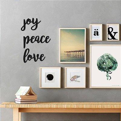 Frase - Joy - Peace - Love