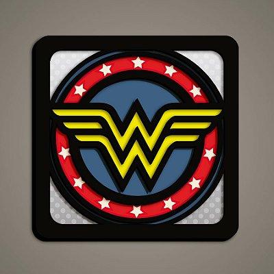 Quadro Herói 3D - Mulher Maravilha