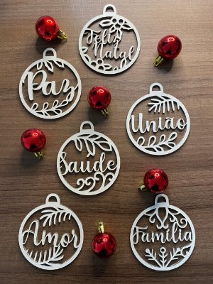 Bolas de Natal - Palavras