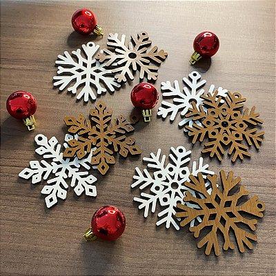 Bolas de Natal - Flocos de Neve