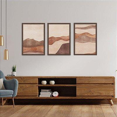Conjunto de 3 Quadros Decorativos – Montanhas