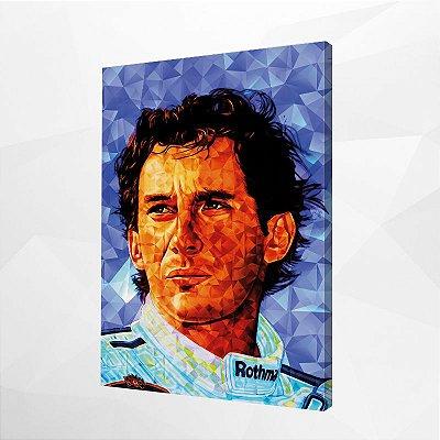 Quadro – Ayrton Senna Geométrico