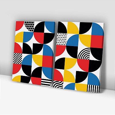 Conjunto de 2 Quadros Decorativos – Bauhaus