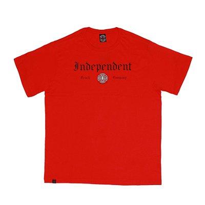 Camiseta Independent Gothic Vermelha