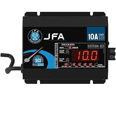Fonte Carregador De Bateria JFA 10A SCI Com Display 500w Rms