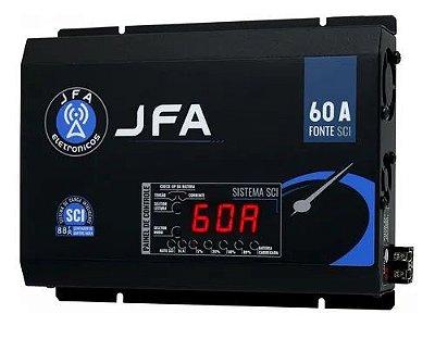 Fonte Carregador De Bateria JFA 60A SCI Com Display 500w Rms