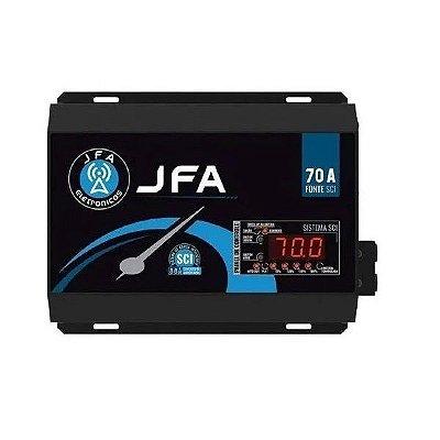 Fonte Carregador De Bateria JFA 70A SCI Com Display 500w Rms