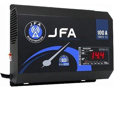 Fonte Carregador De Bateria JFA 100A SCI Com Display 500w Rms