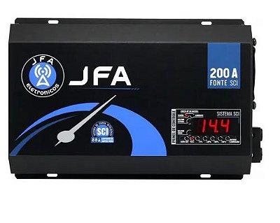 Fonte Carregador De Bateria JFA 200A SCI Com Display 500w Rms