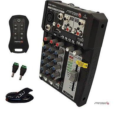 Mesa De Som Interface Stetsom Stm1003 3 Canais 12v Bluetooth