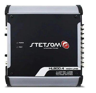 Amplificador Digital Stetsom Hl800.4 900w 4 Canais 1 OHM