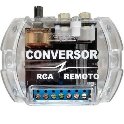 Conversor E Filtro Rca Remoto Zendel Para Automotivo