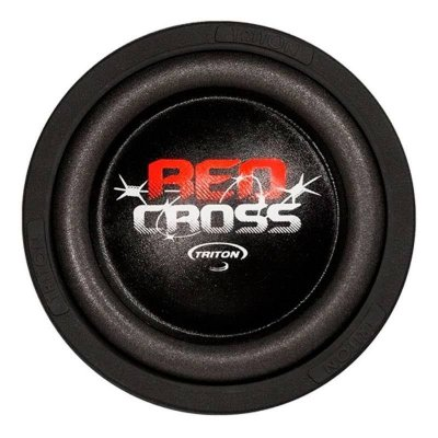 Subwoofer 8 Triton Red Cross 500w Rms 4 Ohms