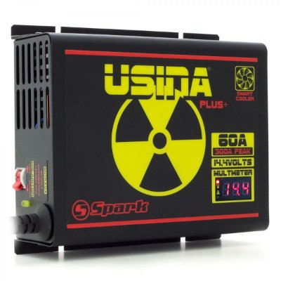 FONTE USINA 60A A 12V BI-VOLT 127/220V DISPLAY VOLT/AMP